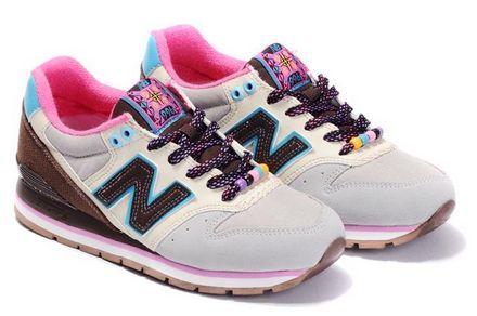 New Balance CM996MBT White Gainsboro Marron Brown Violet Women Shoes
