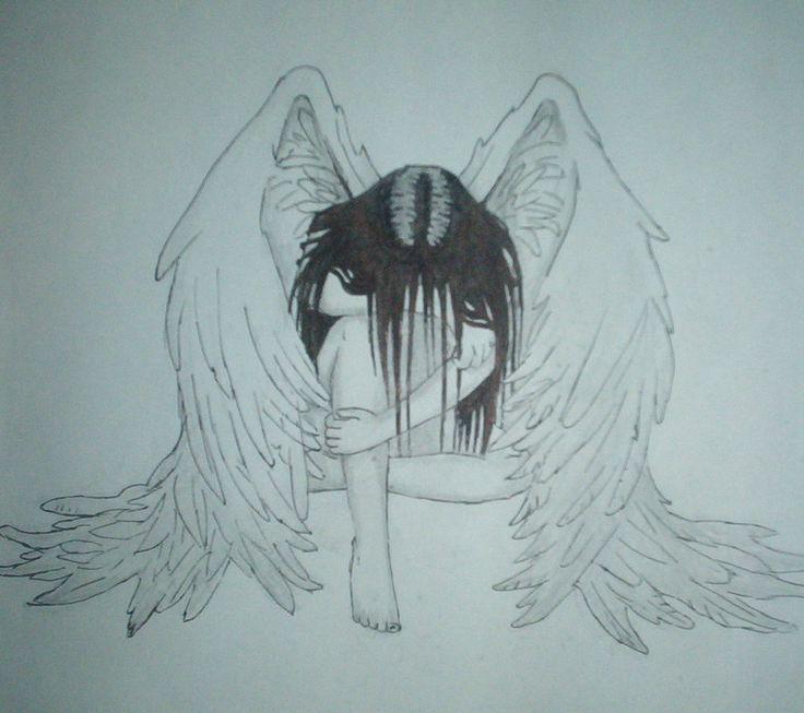 Ангелы и демоны рисунки для срисовки