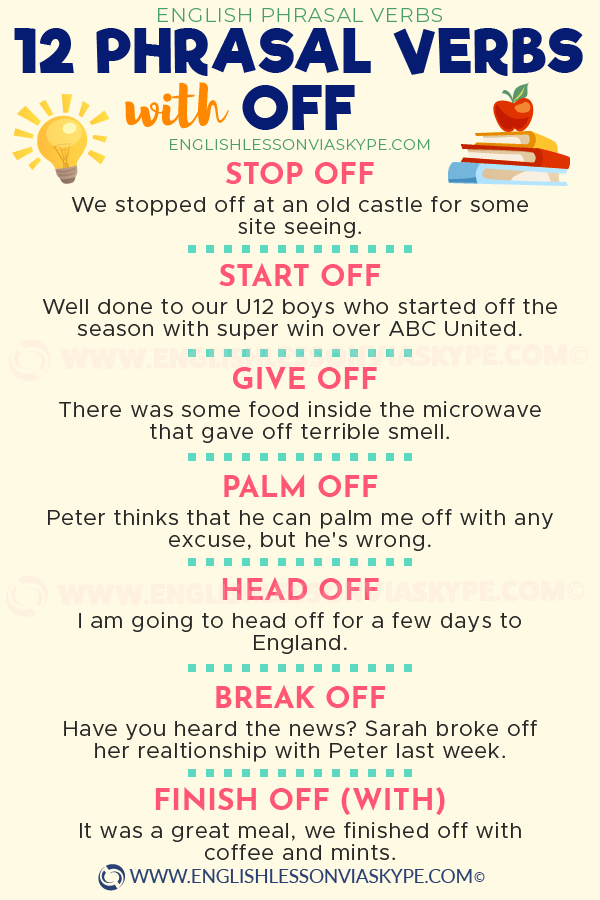 Learn less well known Phrasal Verbs with OFF and their ...
