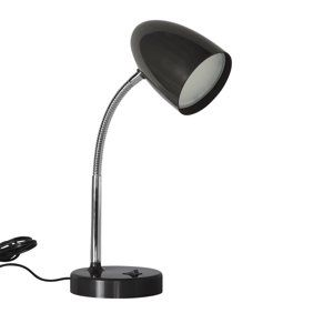Mainstays Ms Floor Lamp And Reading Light Black Walmart Com
