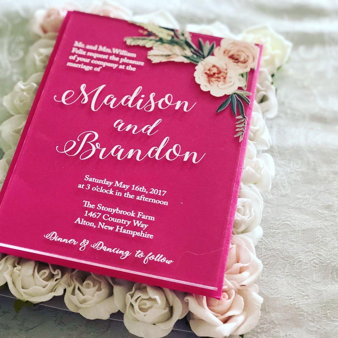 Acrylic wedding invitation acrylic wedding invitations