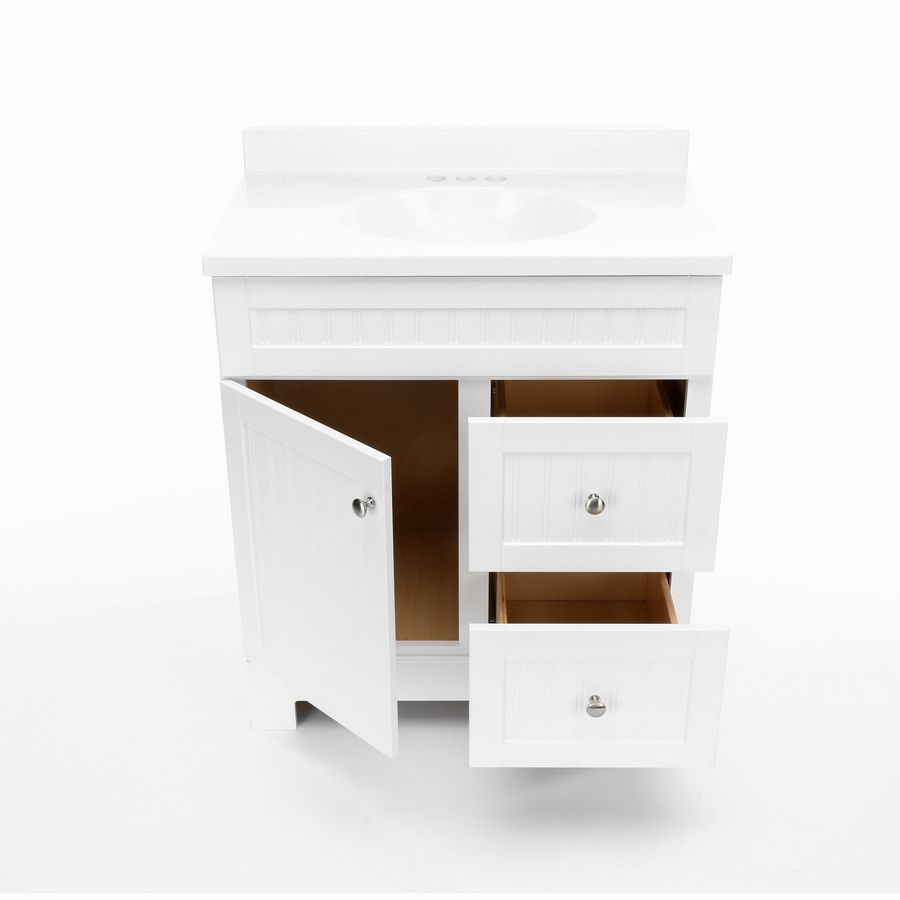 Super Shop Style Selections Ellenbee White Integral Single Sink Download Free Architecture Designs Scobabritishbridgeorg