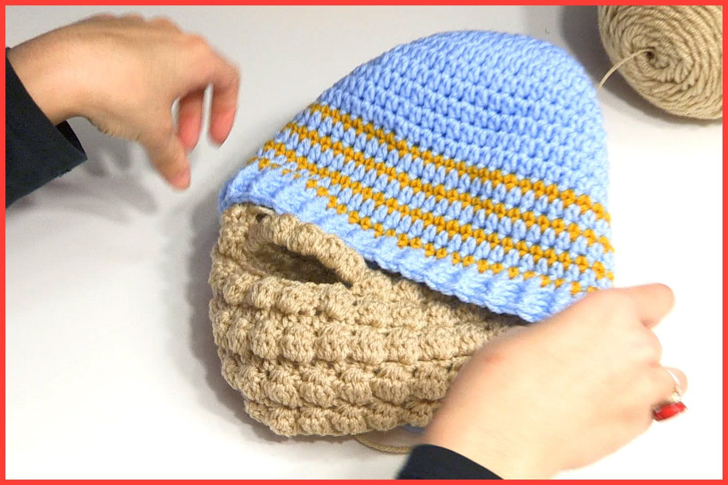 step by step tutorial on how to crochet the Ashlee Marie beanie ...
