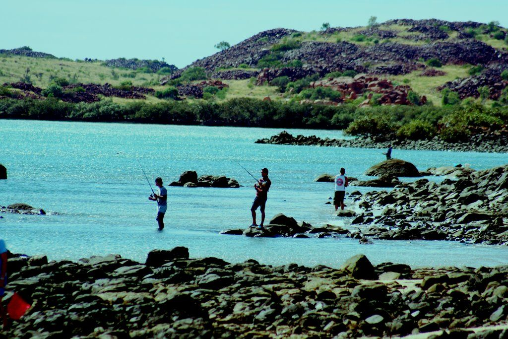 Withnell bay Burrup peninsular fishing the incomming tide