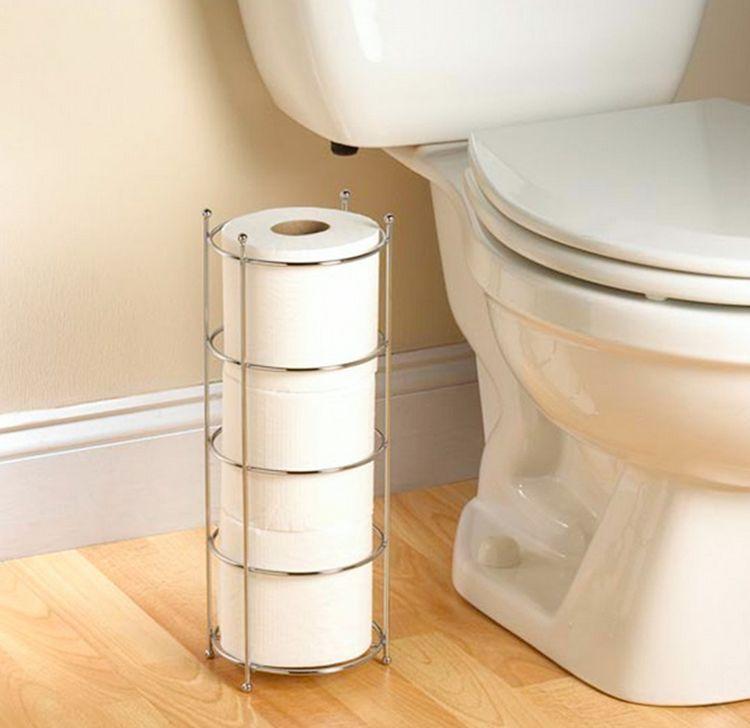 Toilet Paper Tissue Roll Holder Rack Stand Storage Organizer Chrome  Bathroom New