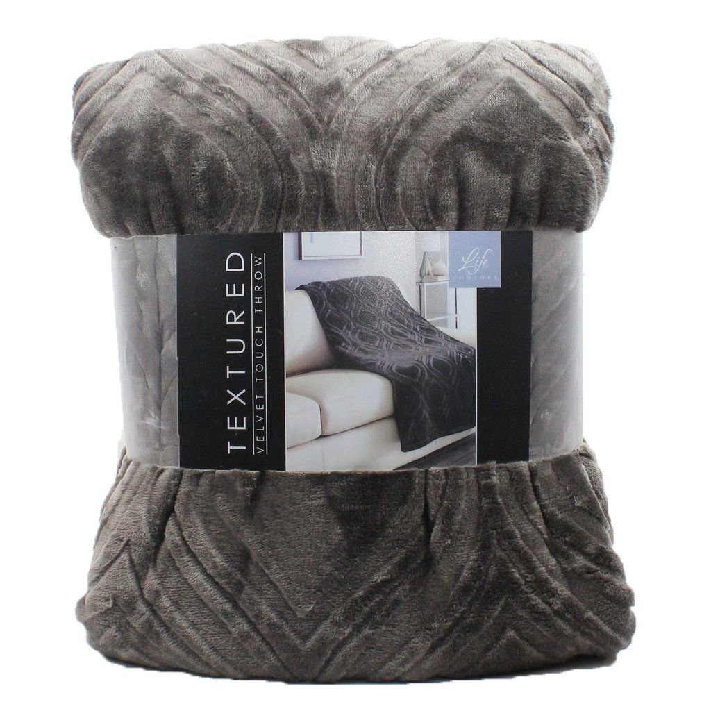 Life Comfort Textured Velvet Touch Throw Blanket Products