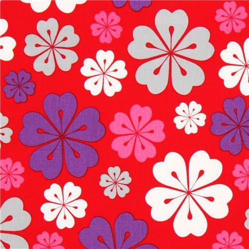 Tela roja flores hawaianas de Robert Kaufman - Telas de flores ...                                                                                                                                                      Más