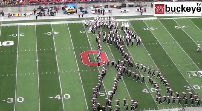 Entire Ohio State Marching Band Moonwalks in the Shape of a Giant Michael Jackson - Mandatory
