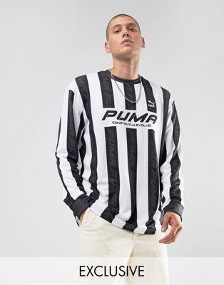 621a235f1ad Puma retro soccer jersey in black Exclusive | P U M A | Retro ...
