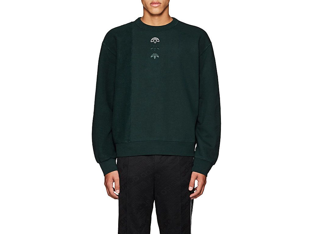 ADIDAS ORIGINALS BY ALEXANDER WANG COTTON FLEECE SWEATSHIRT
