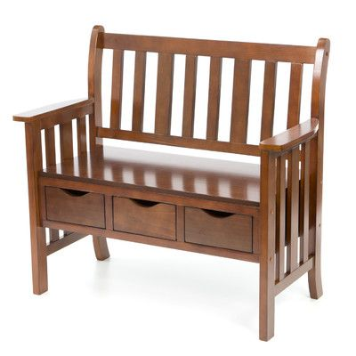 Wildon Home Davidson Storage Wood Entryway Bench