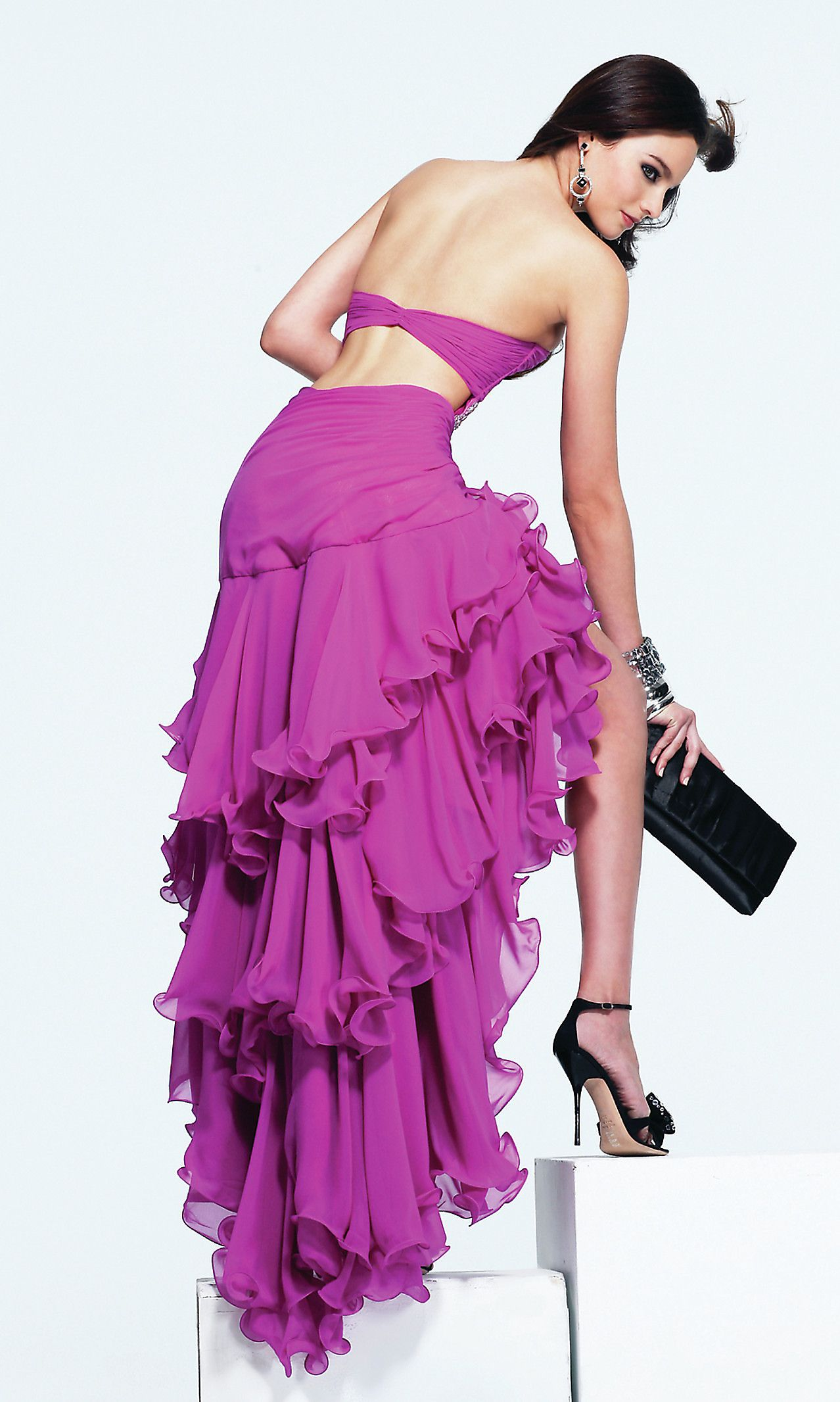 Fucsia chiffon dress-wish I had somewhere to wear this! | vestidos ...