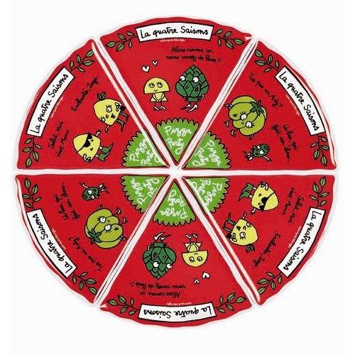 assiettes pizza set de 6 derri re la porte tin box design pinterest pizza party and. Black Bedroom Furniture Sets. Home Design Ideas