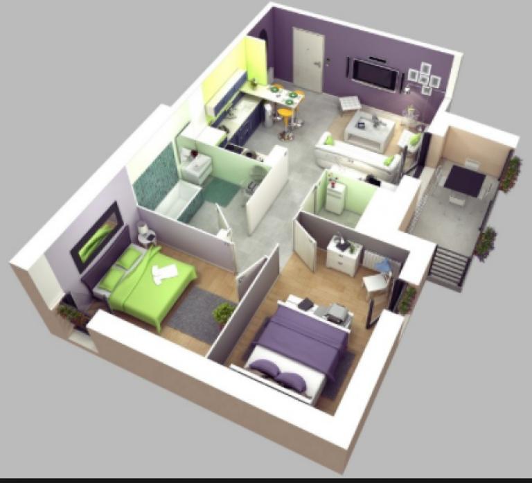 Desain Rumah Minimalis Type 36 Dengan 3 Kamar Tidur Cek Bahan Bangunan
