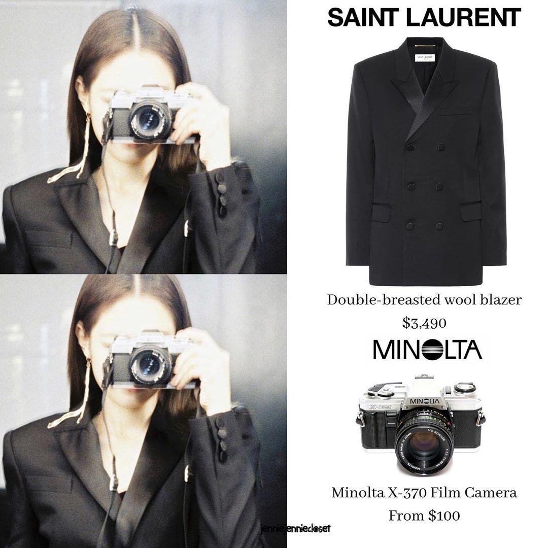 Lesyeuxdenini S First Ig Post Wearing Blazer From Saintlaurent Camera Minoltax370 Blackpinkjennie Jennieblackpink