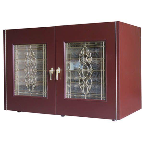 Beveled Glass Kitchen Cabinet Doors: Vinotemp 270ECB-Model Economy Wine Cabinet With Beveled