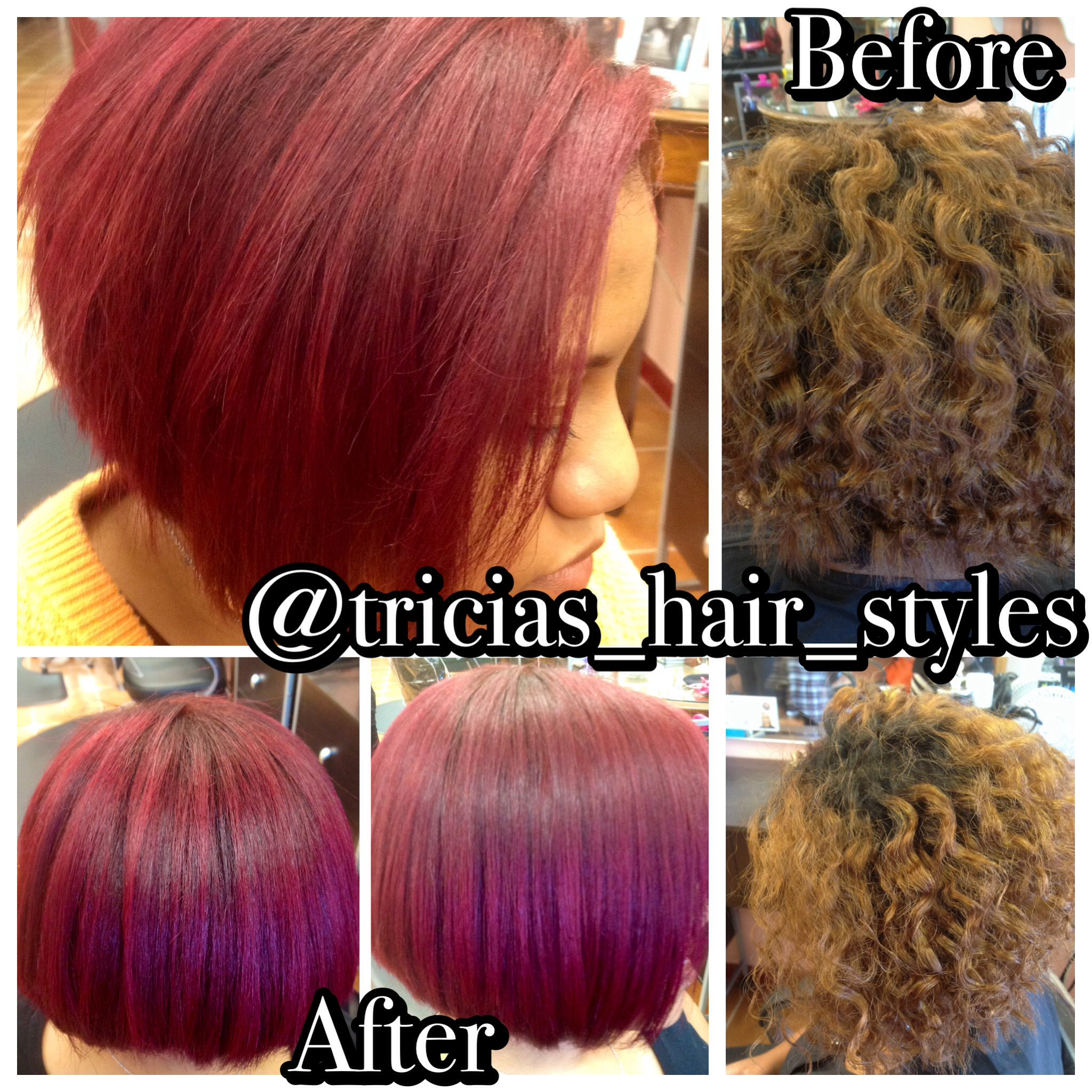 Radiant Red Created With Goldwell Color With Textured