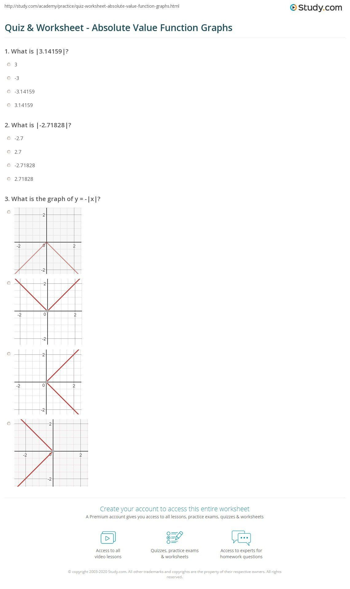 Graphing Logarithmic Functions Worksheet Quiz Amp Worksheet