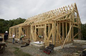 See lime kiln firing timber framing Saturday at Washington house site