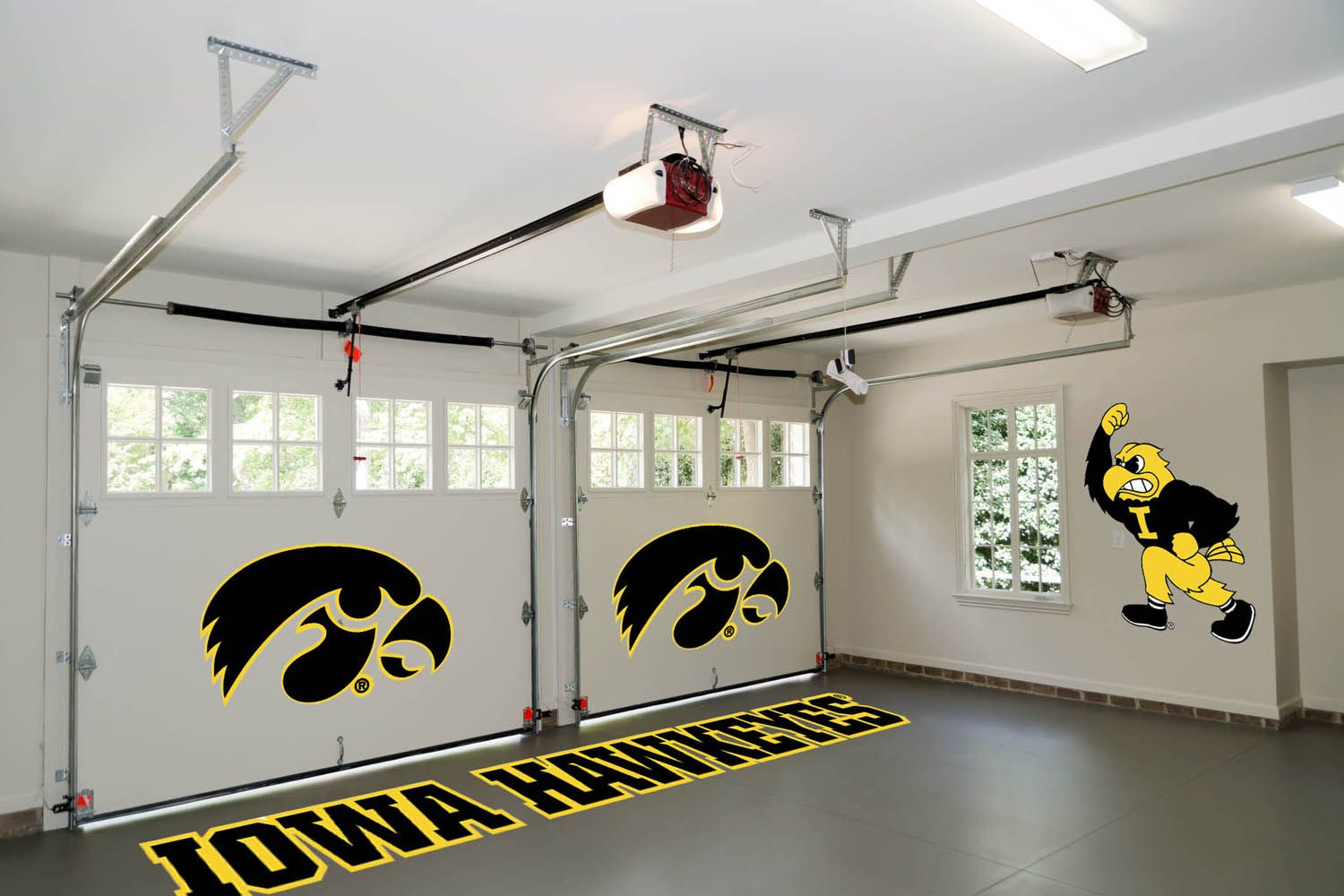 Ultimate garage! iowa wall appliques garage walls wall