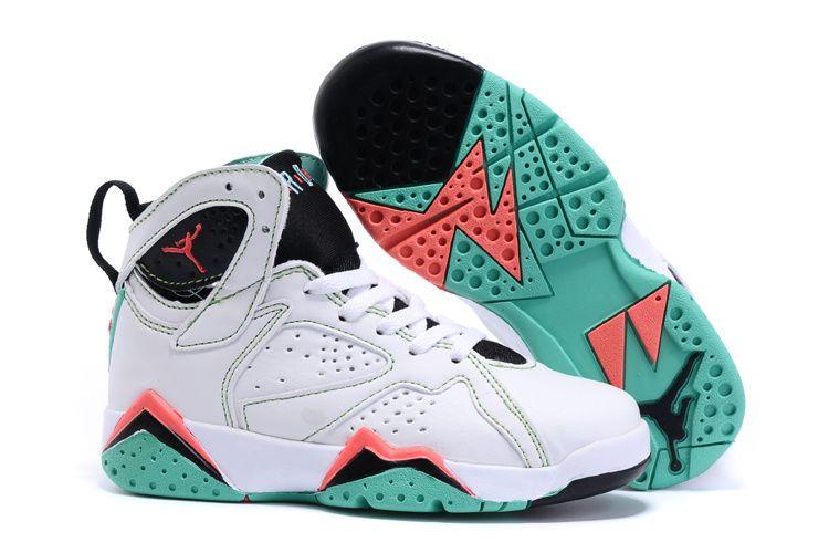 Womens Jordan Sneakers Wholesale Cheap Nike Air Jordan 6 Orange Grass Green White