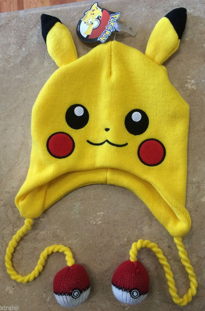 1f3cbbb06ed Authentic Pokemon Pikachu Laplander With Pokeball Hat Beanie Cap Licensed   Pokemon  Beanie