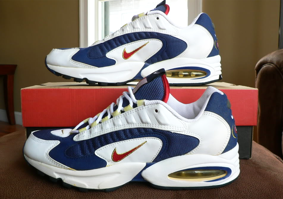 1996 Nike Images Blanc Bleu Air Max Triax