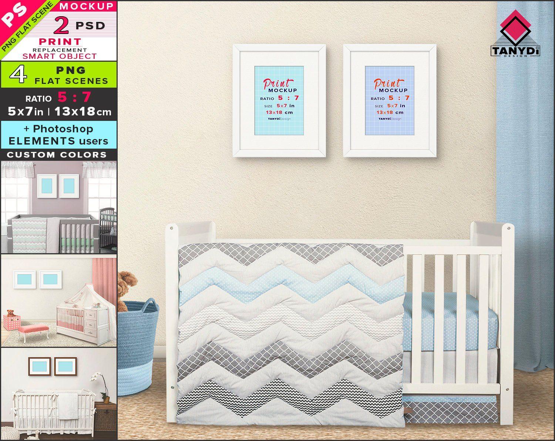 5x7 Frame On Nursery Wall Photoshop Print Mockup 4 Png Etsy Nursery Walls Print Mockup Frame