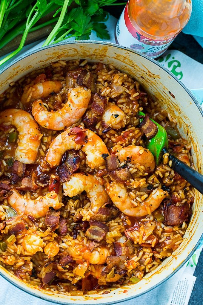 Red Rice with Shrimp and Bacon, Red Rice with Shrimp and Bacon,