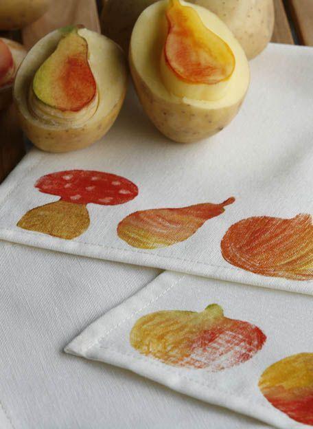 Herbstlicher Kartoffeldruck | Kinder sind kreativ: Ideen für basteln ...