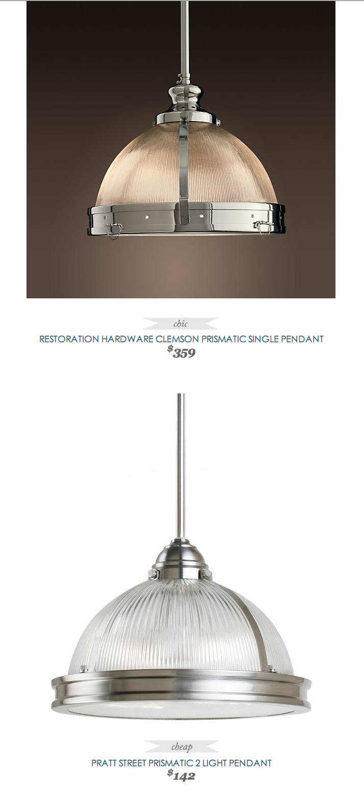Copycatchicfind Restoration Hardware Clemson Prismatic Single Pendant 359 Vs Prattstreet