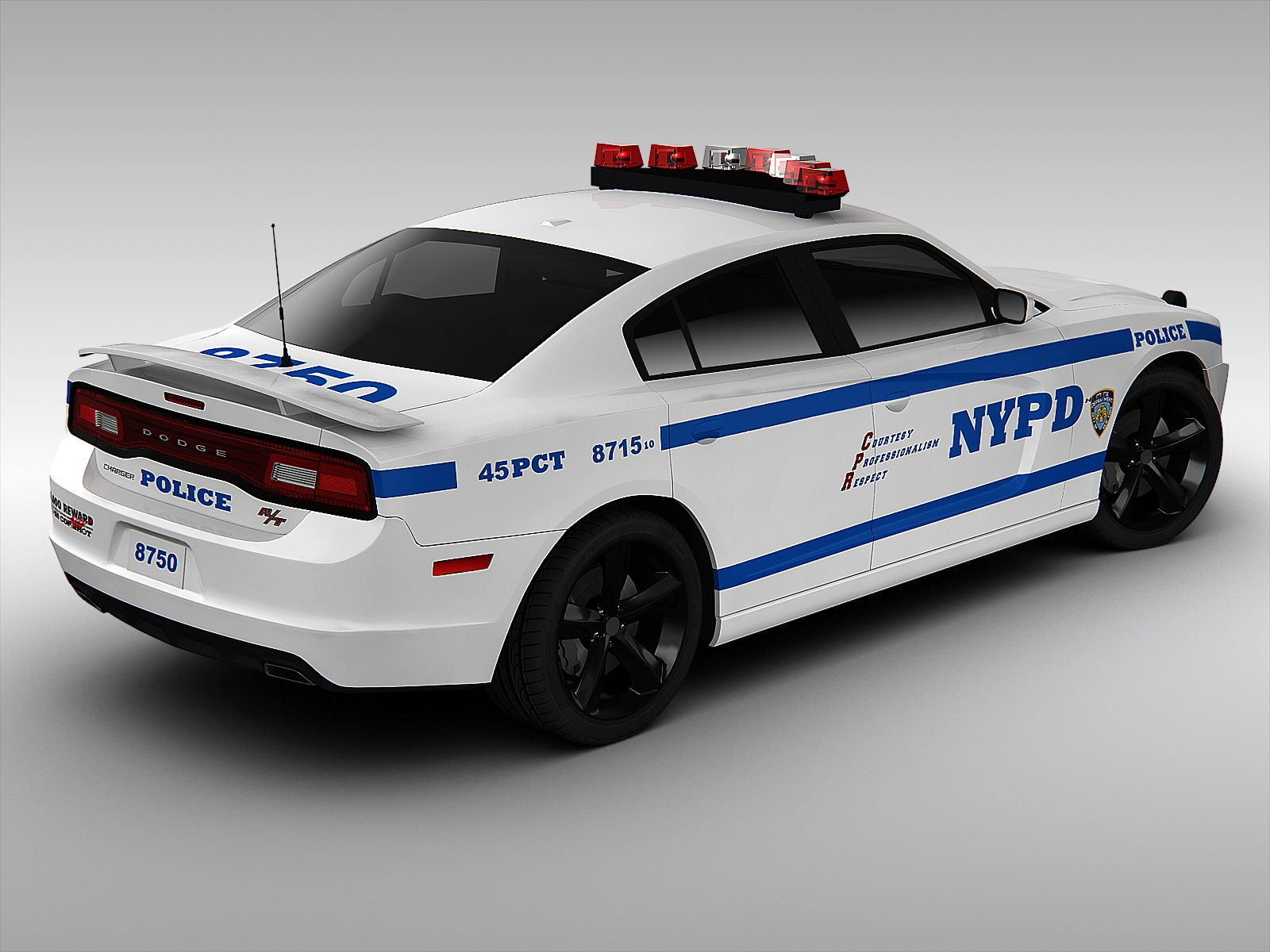 Dodge Charger NYPD Police Car 2013 | 3D model | Police ...