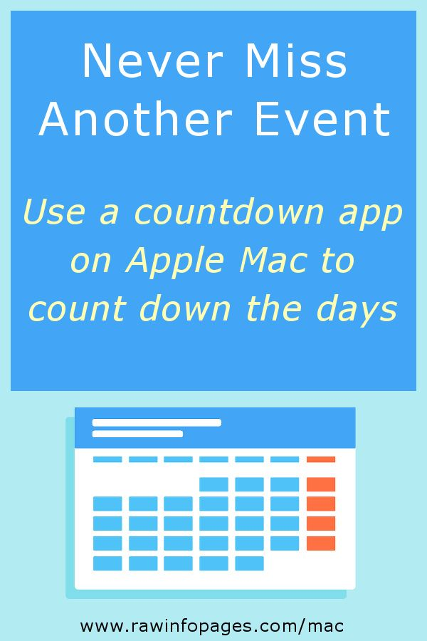 Never miss another important event with a countdown widget