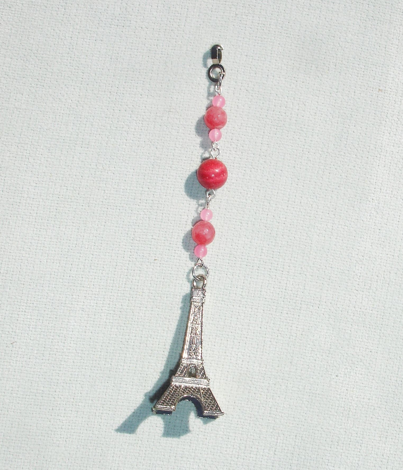 Handmade Eiffel Tower Gemstone Fan or Light Pull for Ceiling Fan or Chain Pull for Lamp