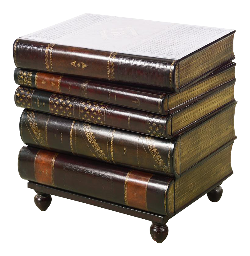 Maitland Smith Stacked Leather Books End Table On Chairish Com
