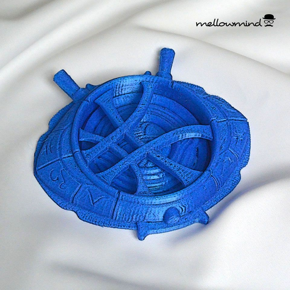 3D printed Eye of Agamotto amulet from upcoming Dr Strange movie.