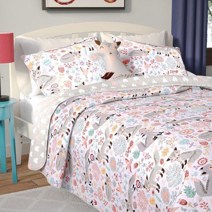 Ira Fox Reversible Quilt Set Kids bedding sets