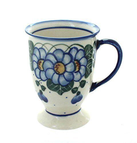 Polish Pottery Primrose Pedestal Mug Blue Rose Pottery https://www.amazon.com/dp/B00Q73L12K/ref=cm_sw_r_pi_dp_eG1GxbS0V98NX
