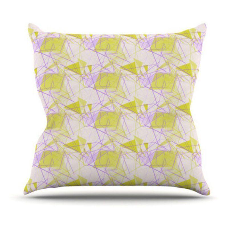 Kess InHouse Alison Coxon Yellow Indoor/Outdoor Throw Pillow - AC1009AOP0