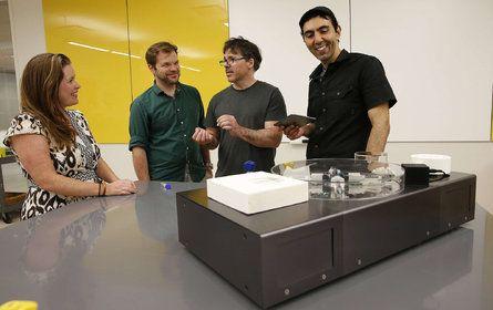 From left to right: Karen Hogan, Guz Gutmann, Michael Hogan, and Orkan Telhan…