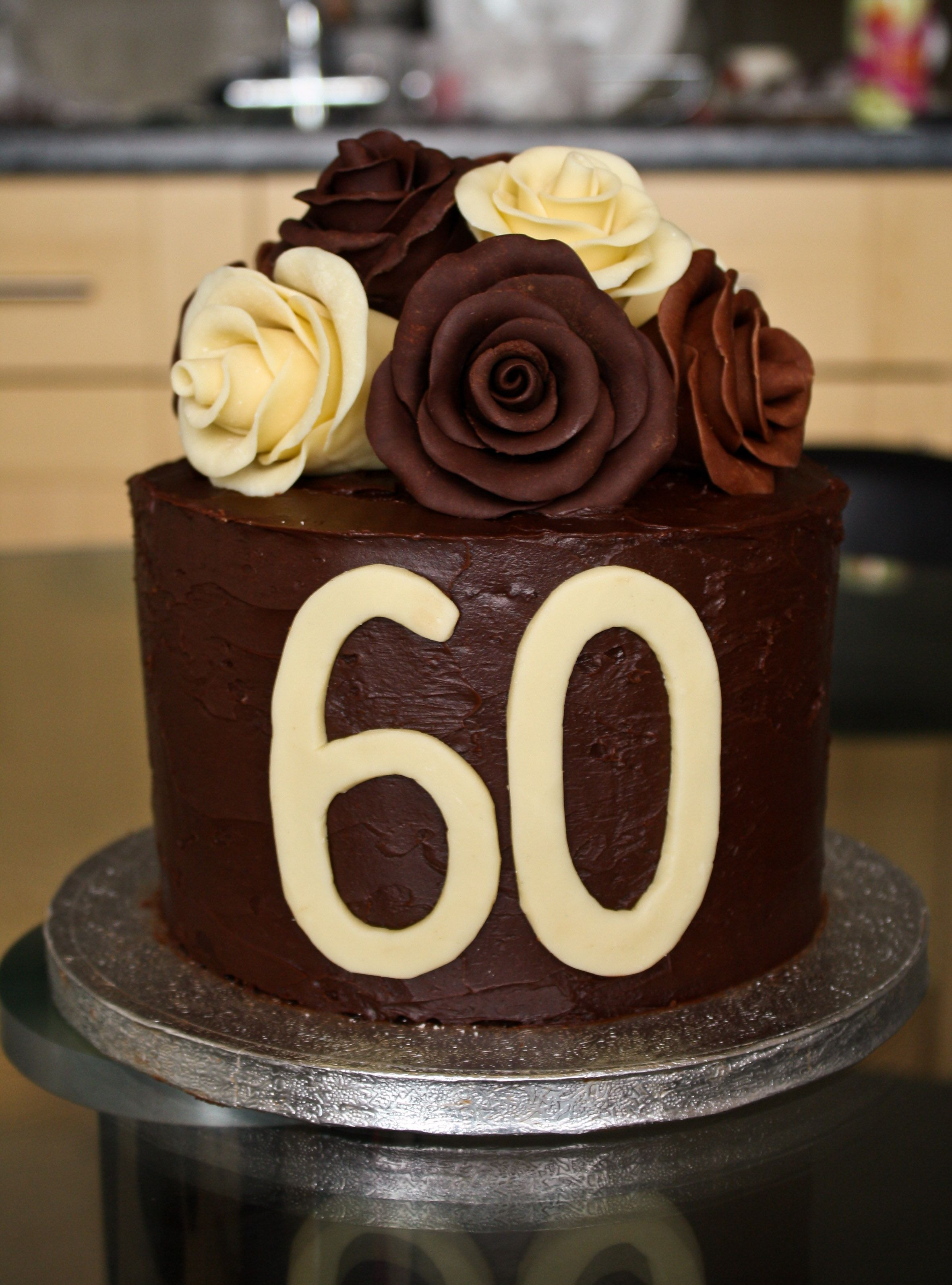 Chocolate Roses Birthday Cake 60th birthday cakes