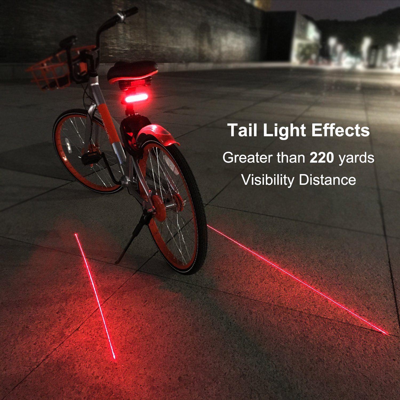 1pc Waterproof Led Bicycle Bike Tail Light Aluminum Safety Rear Warning Tool