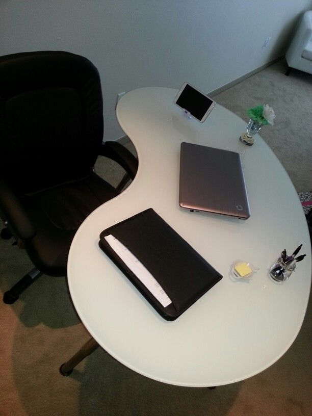 I Bought My Home Office Desk From IKEA. I Love The Kidney Bean Shape U0026