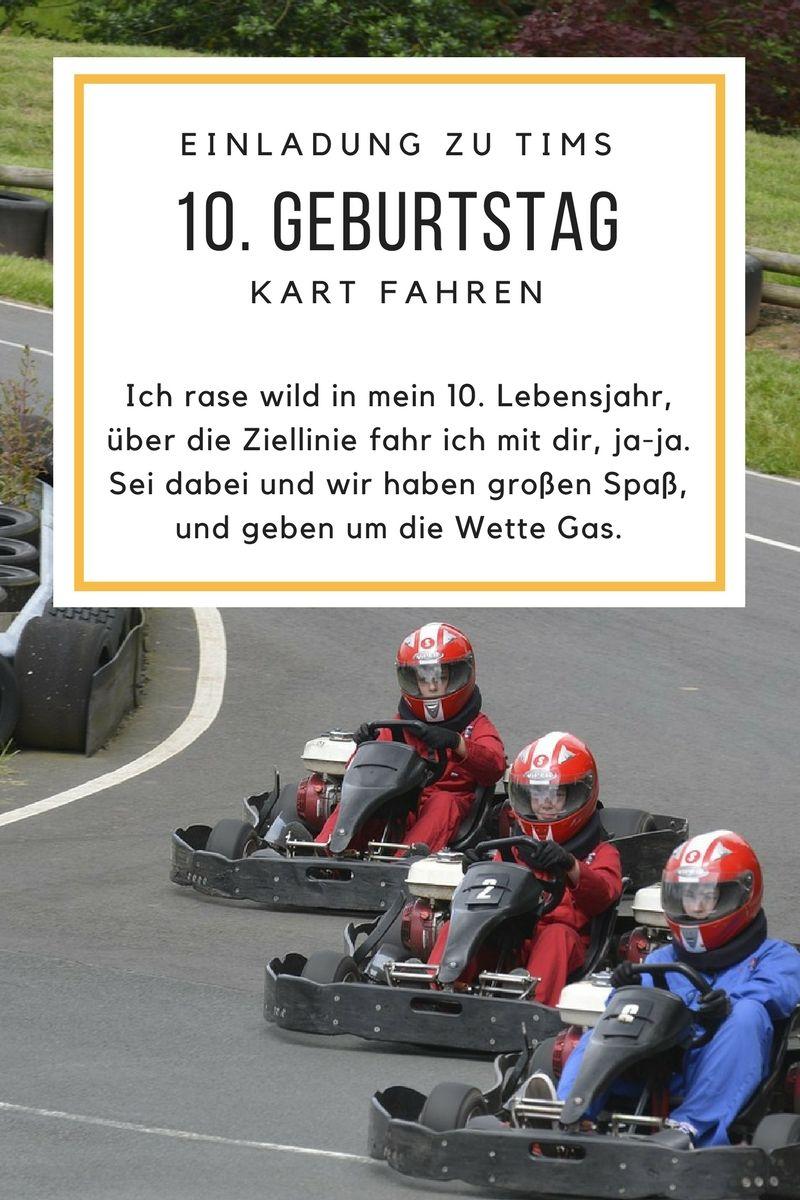 Einladung Zum Kart Fahren Spruche Fur 10 Geburtstag Kartfahren Einladungskarten Geburtstag Einladungen