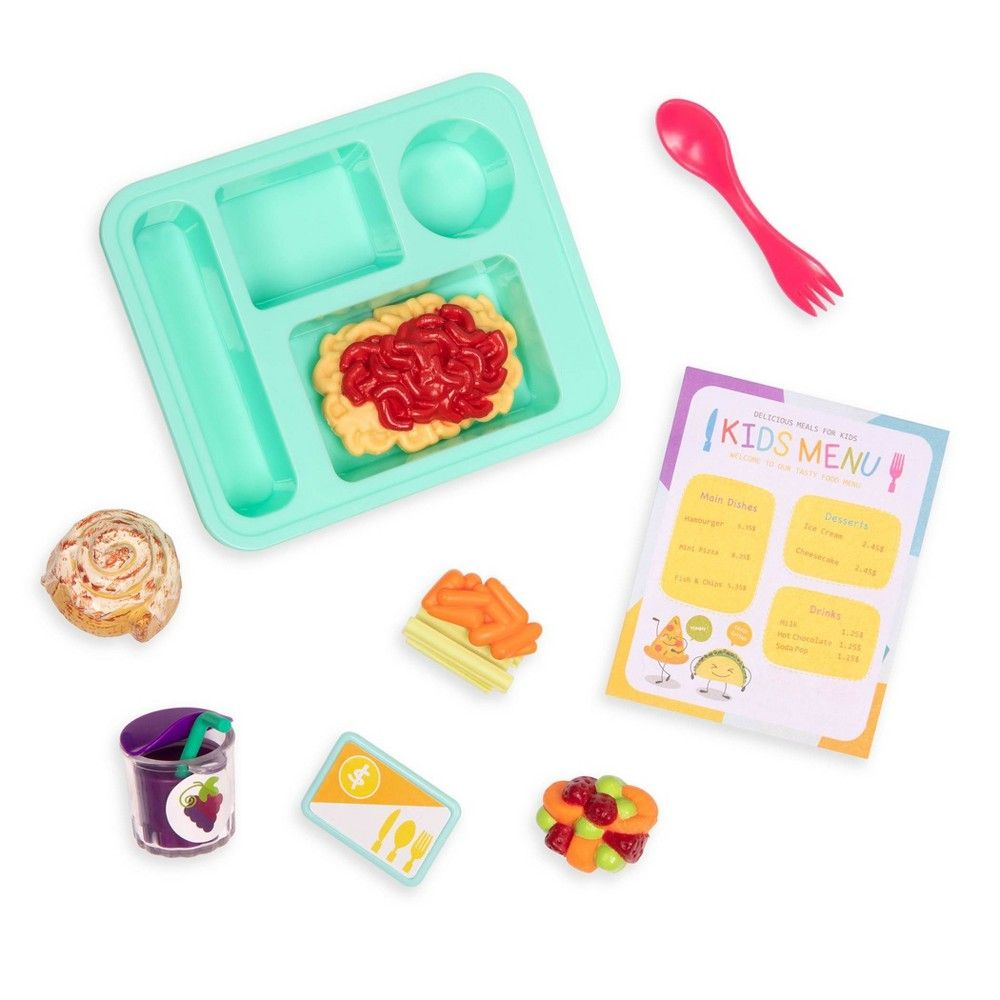 Mini School Lunch and Lunch Bell Paper Bag Lunch and School Lunch Bell Minitures,Doll House Items School Items for Doll Houses,Fun Littles