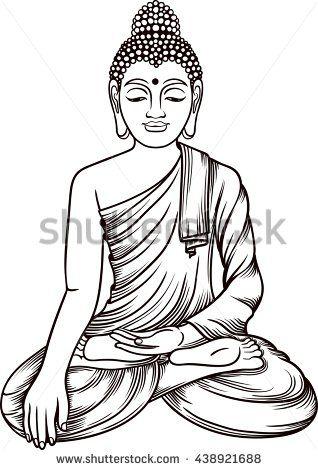 20+ Buddha Clipart Black And White
