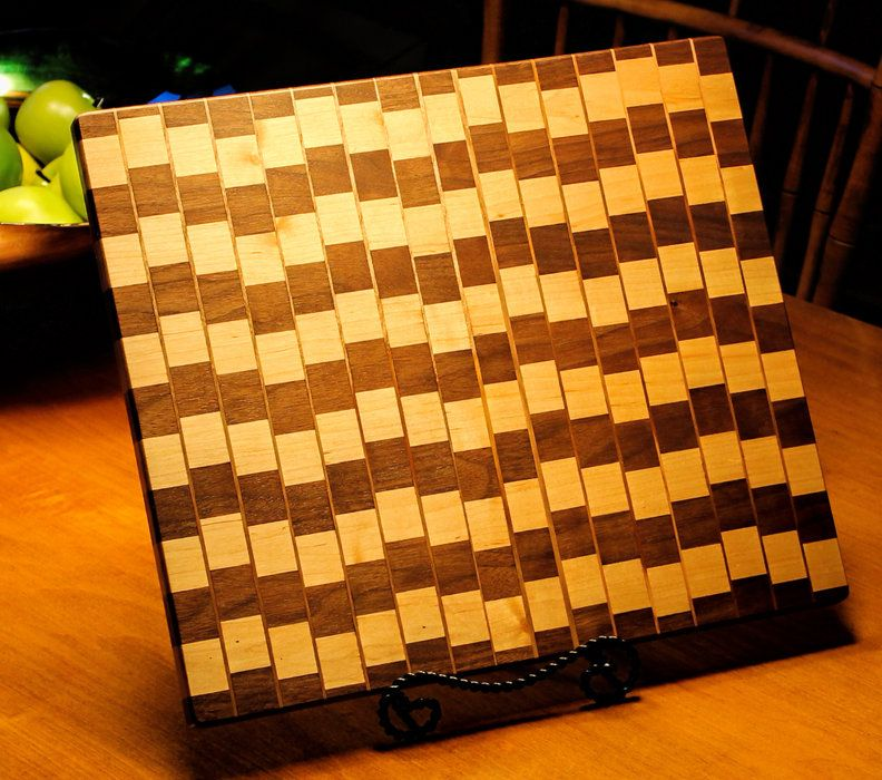 Second Attempt at Cafe Wall Illusion Cutting Board. - by