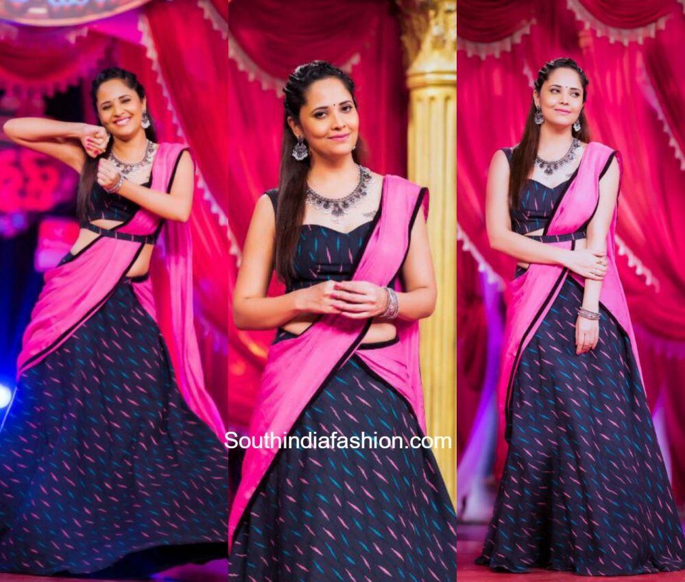 4a6d42a0fc Anasuya Bharadwaj in Duta Couture 600x510 photo | Indian dress