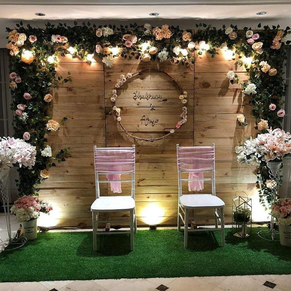 Rustic Backdrop For Lovely Client Engagement Shabrina Aryo Latar Belakang Pernikahan Dekorasi Pernikahan Dekorasi Pernikahan Klasik