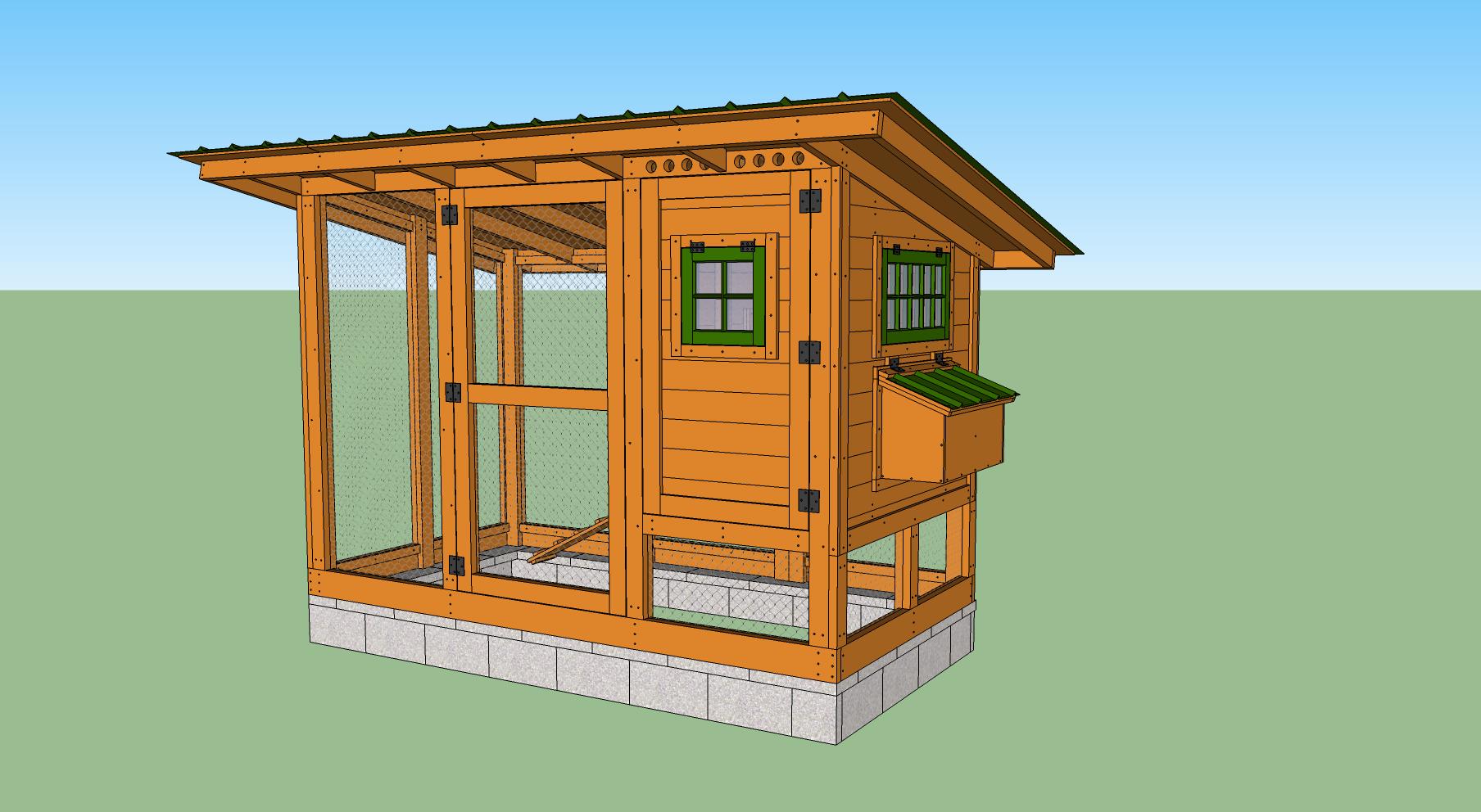 Wichita Cabin Coop Diy Chicken Coop Plans Chickens Backyard